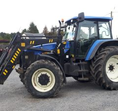 New Holland TM155 tractor and loader