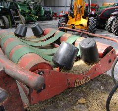 Used round bale wrapper